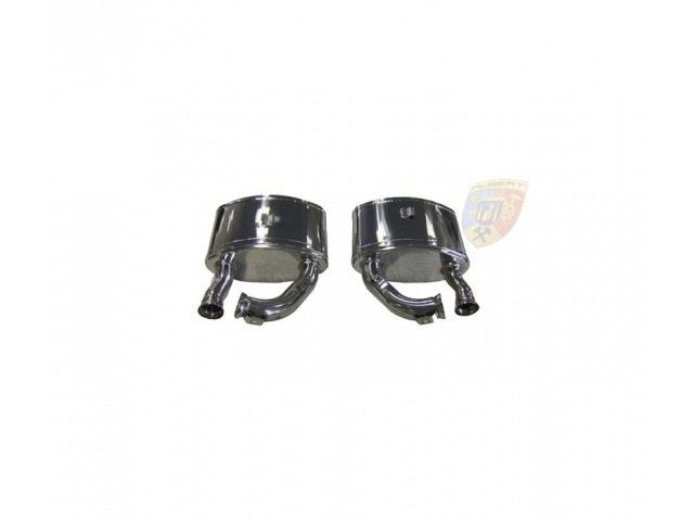 993 Carrera Porsche sport exhaust pots made of stainless steel TIG welded
