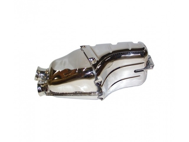 964 - 964 Turbo Porsche rear muffler polished stainless steel