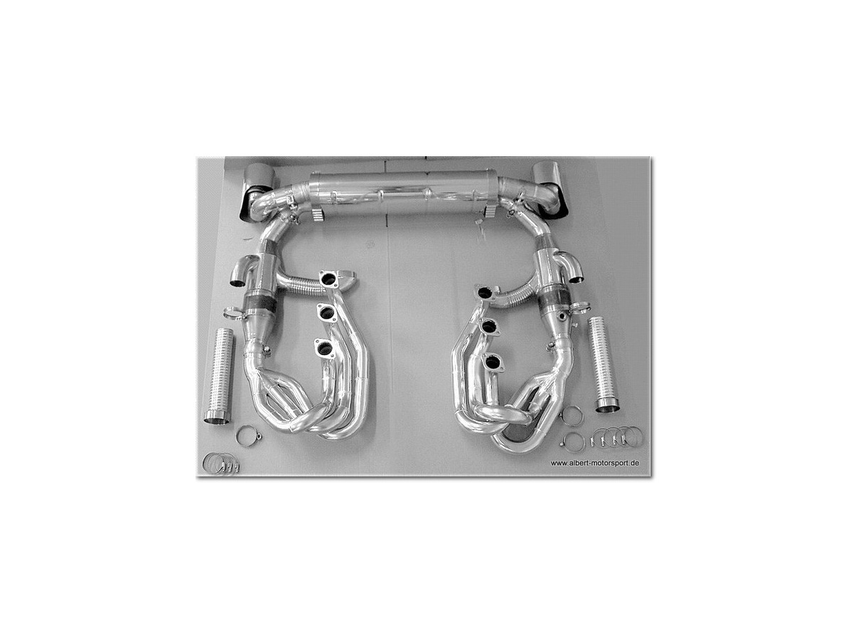 964 Sport exhaust system Powerkit stainless steel polished 2 tailpipes