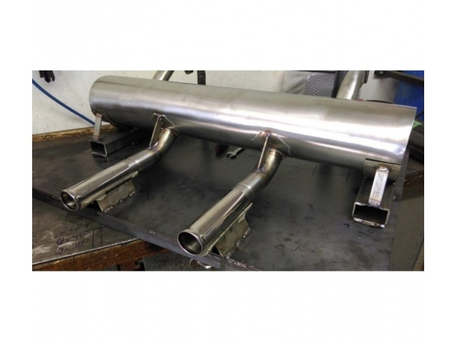 356 A rear silencer stainless steel Porsche