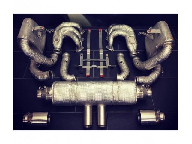 991 GT3 Cup racing exhaust with fan headers and heat protection