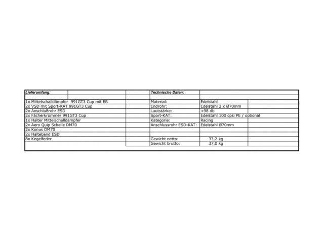 986 - Boxster Sportauspuff Edelstahl poliert für Porsche