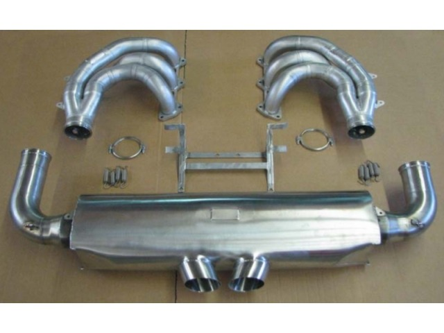 996 RSR racing exhaust for Porsche made of stainless steel