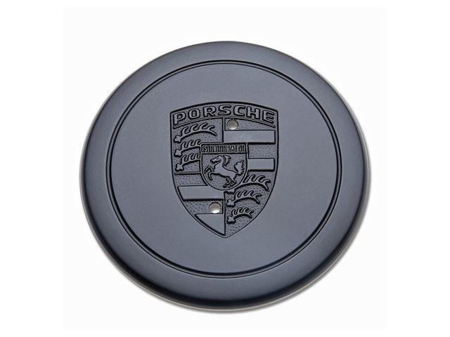 Radzierdeckel für Porsche Fuchs Felgen schwarz mit Wappen
