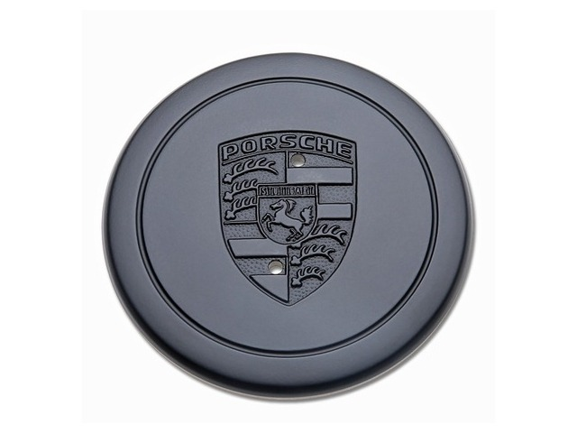 Wheel hub cover for Porsche Fuchsfelgen black with emblem