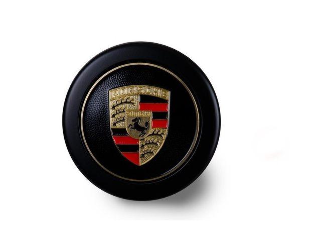 Radzierdeckel schwarz mit Wappen farbig für Fuchsfelge