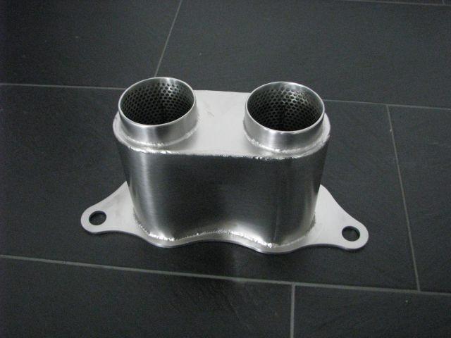 997 - 991 GT3 Cup Endrohr Schalldämpfer gerade für Porsche Rennwagen