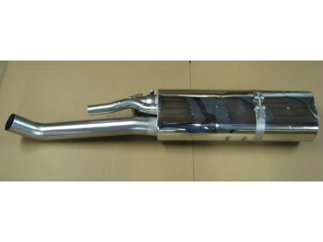 930 Turbo rear silencer made of stainless steel for Porsche 911