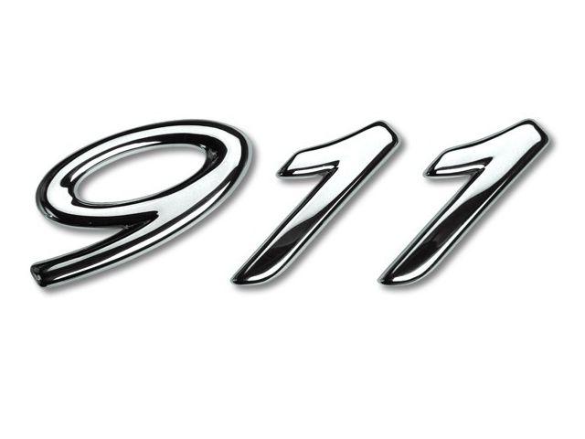 "996 lettering silver ""911"" for Porsche special edition ""Millenium"""