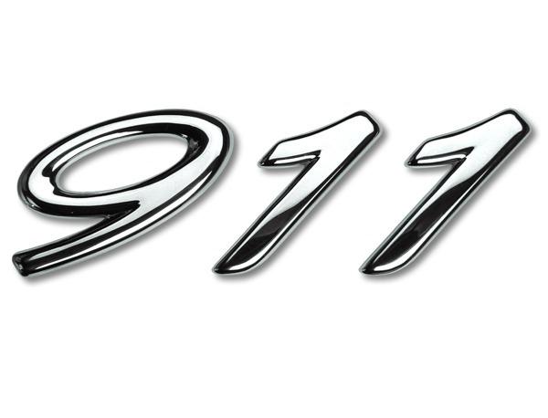 996 schriftzug silber 911 f r porsche sondermodell millenium. Black Bedroom Furniture Sets. Home Design Ideas