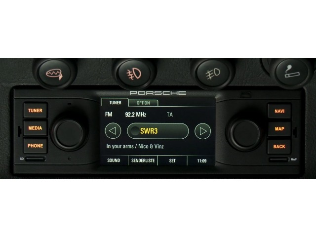 Porsche Classic radio navigation system for all models with DIN 1 shaft