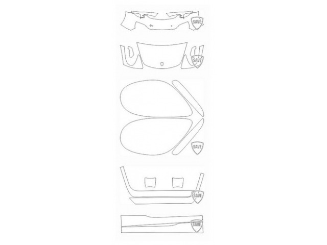 981 Boxster 2011-2016 front guard set
