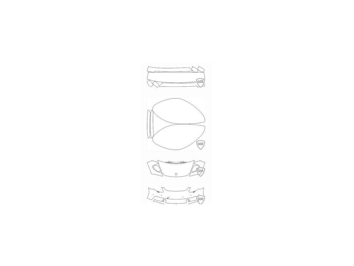 971 Panamera Turbo 2016-2018 Frontschutz Set