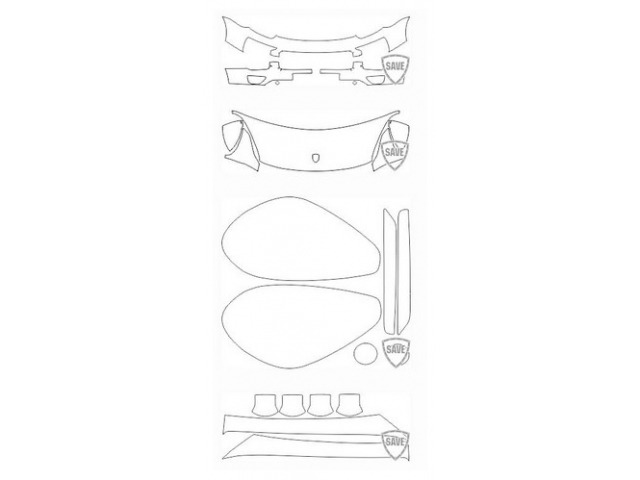 958 Cayenne 2014-2017 front guard set