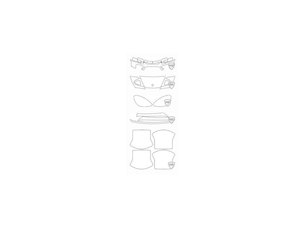 958 Cayenne Turbo 2011-2014 Frontschutz Set