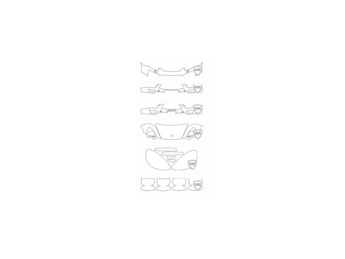 958 Cayenne Turbo S 2010-2014 Frontschutz Set