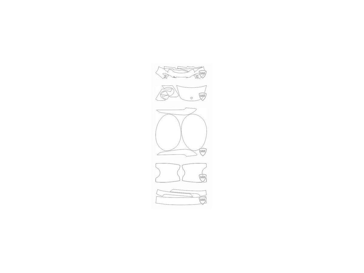 991 Carrera 2011-2015 front guard set