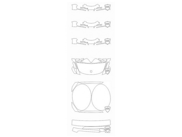 991 GTS Convertible / Targa 2015-2018 Front Guard Set