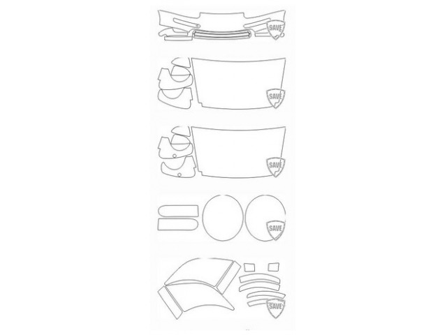 993 Carrera Bj. 1993-1997 Folien Frontschutz Set