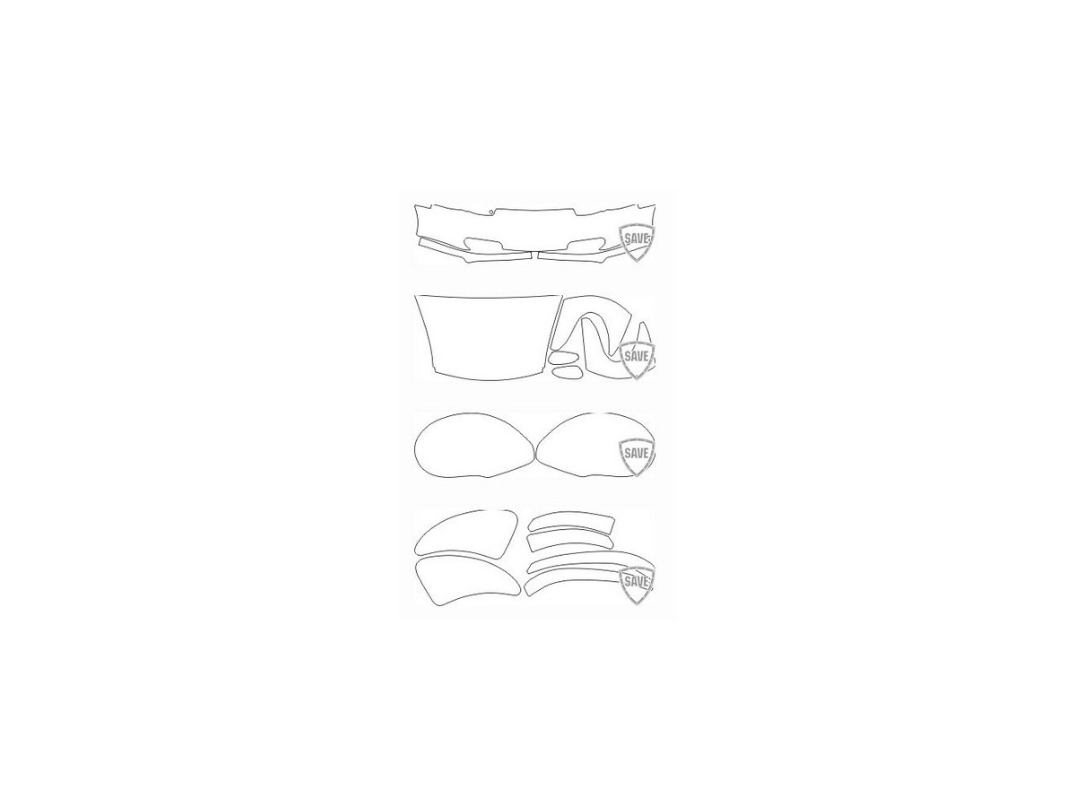996 Carrera year 1997-2004 foils front protection set