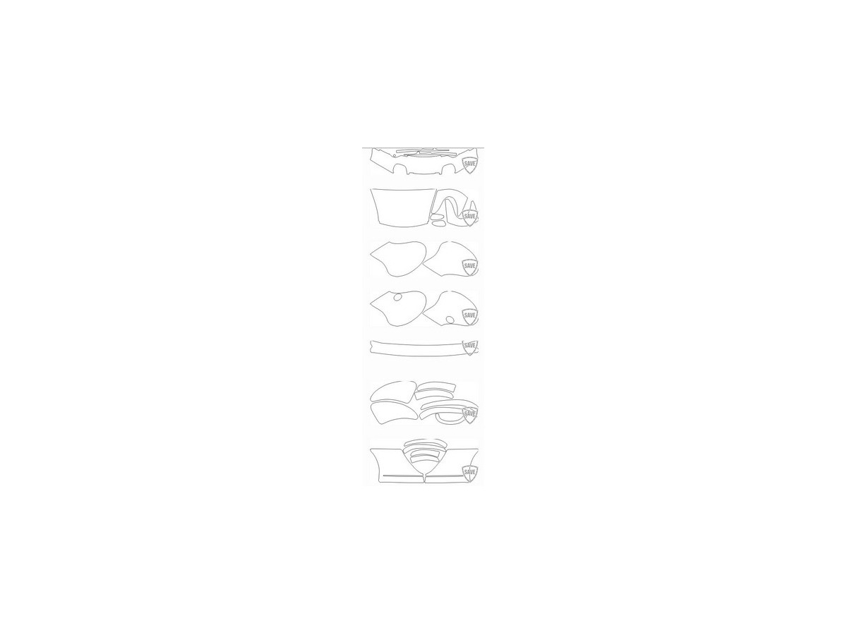 996Turbo year 1997-2004 foils front protection set