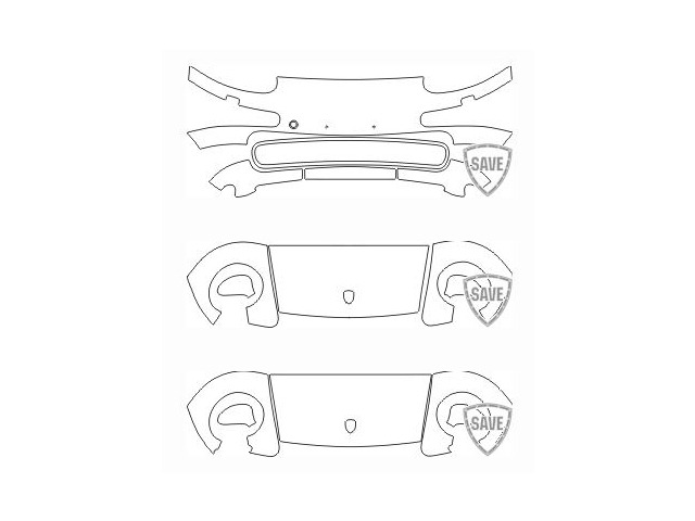 997 Turbo year 2005-2012 foils front protection set