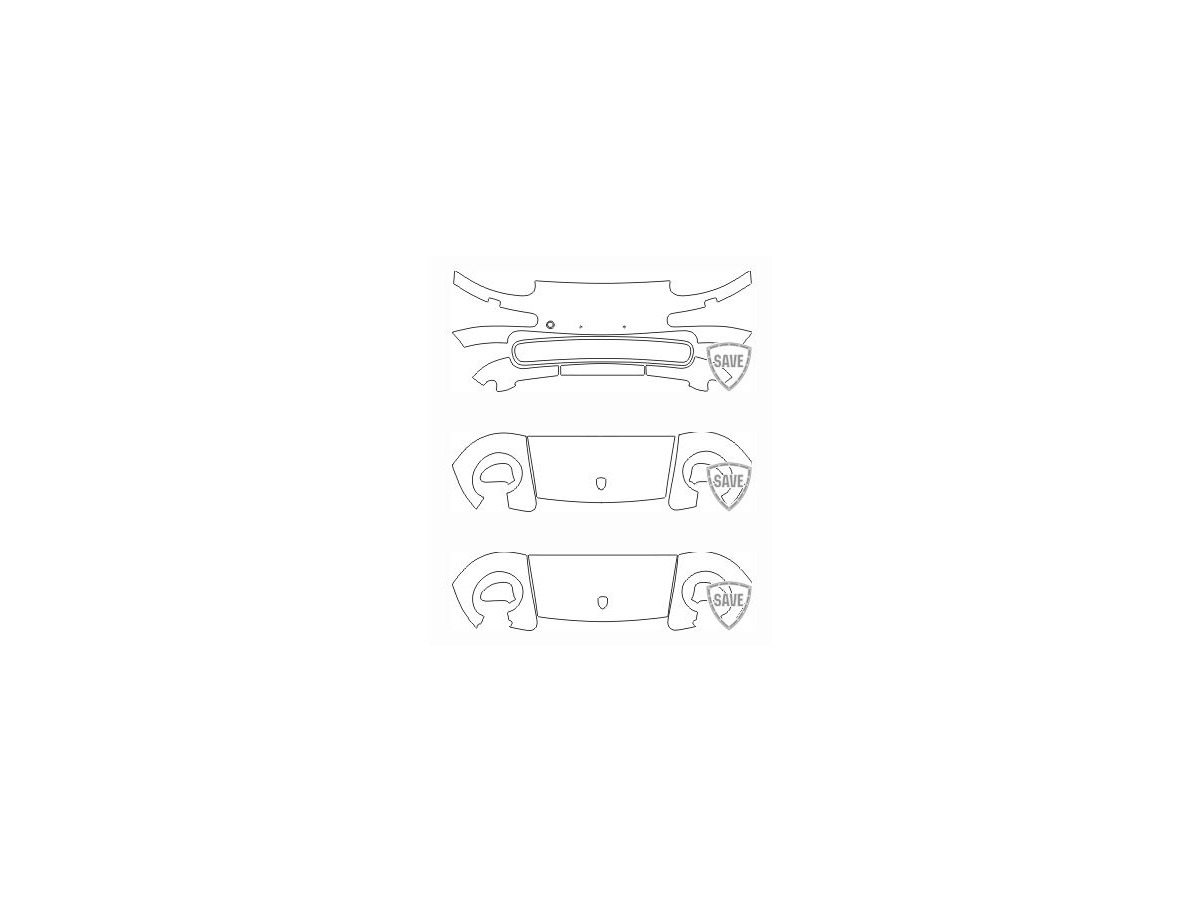 993 Carrera Bj. 1995-1998 Folien Frontschutz Set
