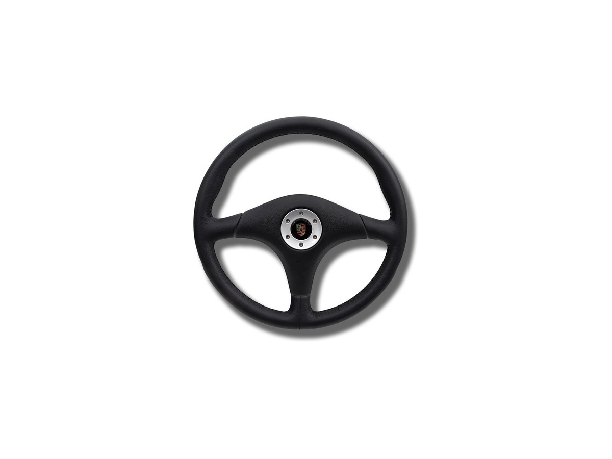 911 sports steering wheel without airbag in black Porsche