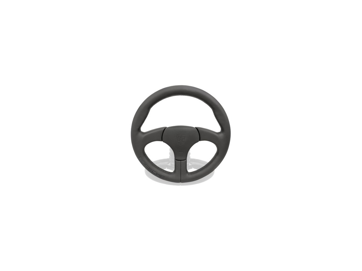 911 - 959 Sport steering wheel black with Porsche logo for Porsche