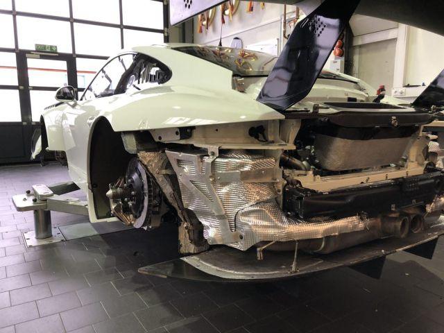 911 Turbo Porsche double pipe rear silencer