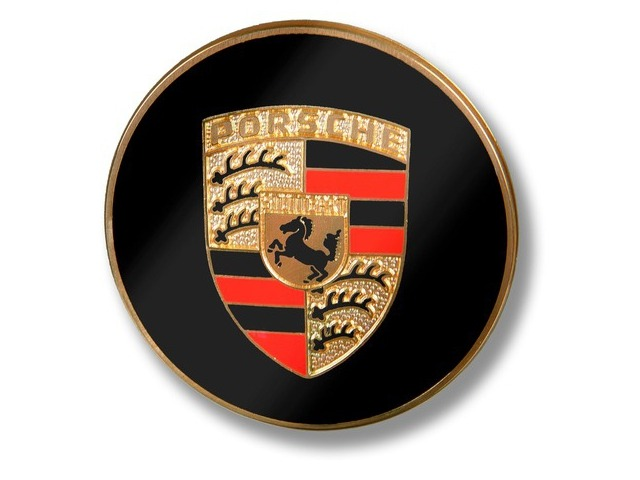 356 - 911 - 914 Badge with colored embossed crest for Porsche
