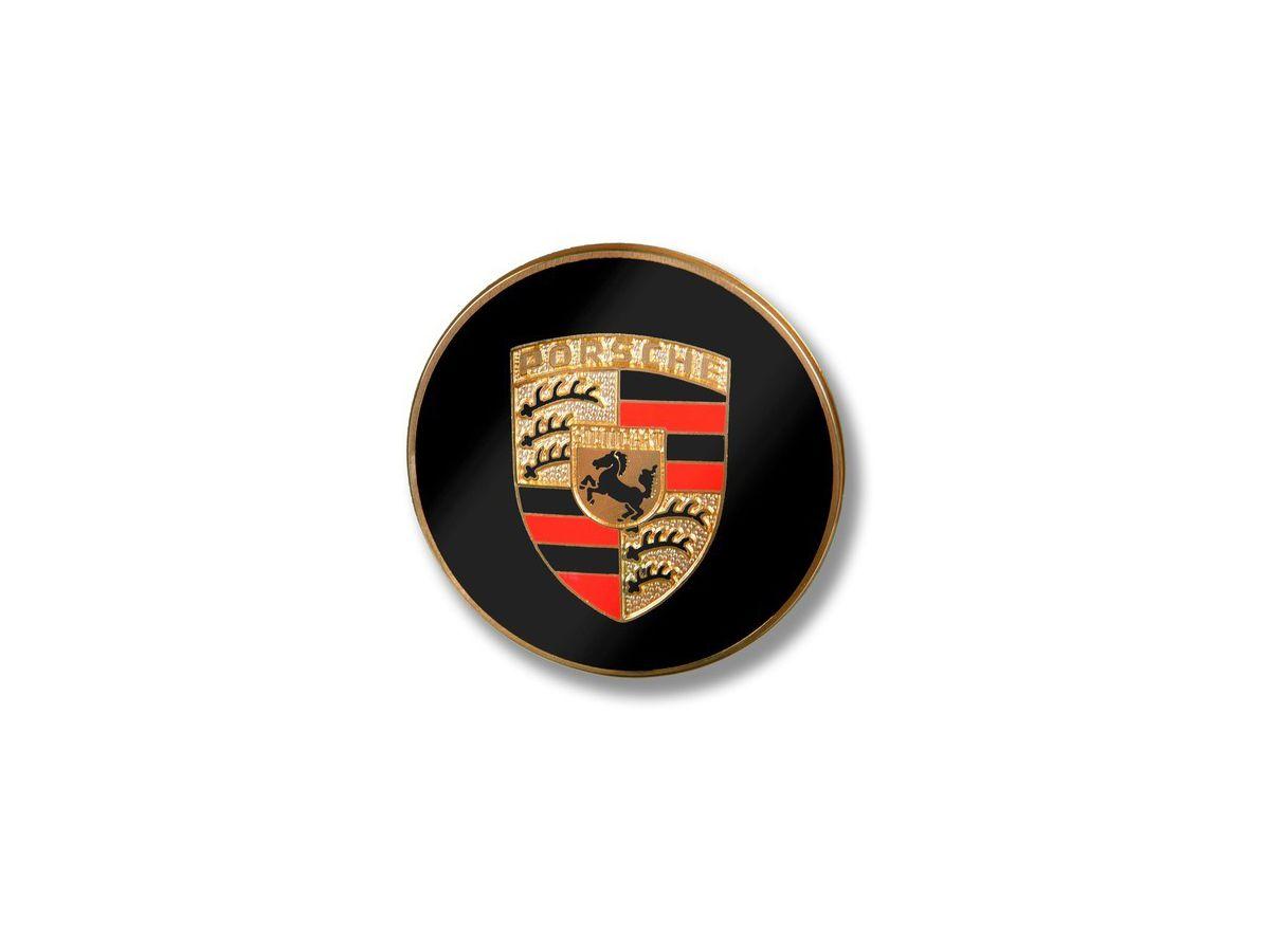 356 - 911 - 914 Plakette mit farbigem geprägtem Wappen für Porsche