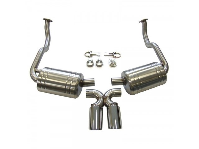 987.1 Boxster - Cayman sport exhaust polished stainless steel for Porsche