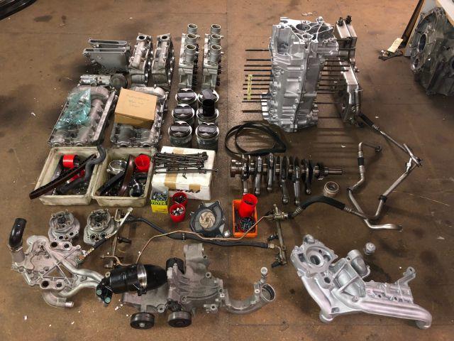 996 GT3 Cup engine mileage 40 hours rebuild Porsche