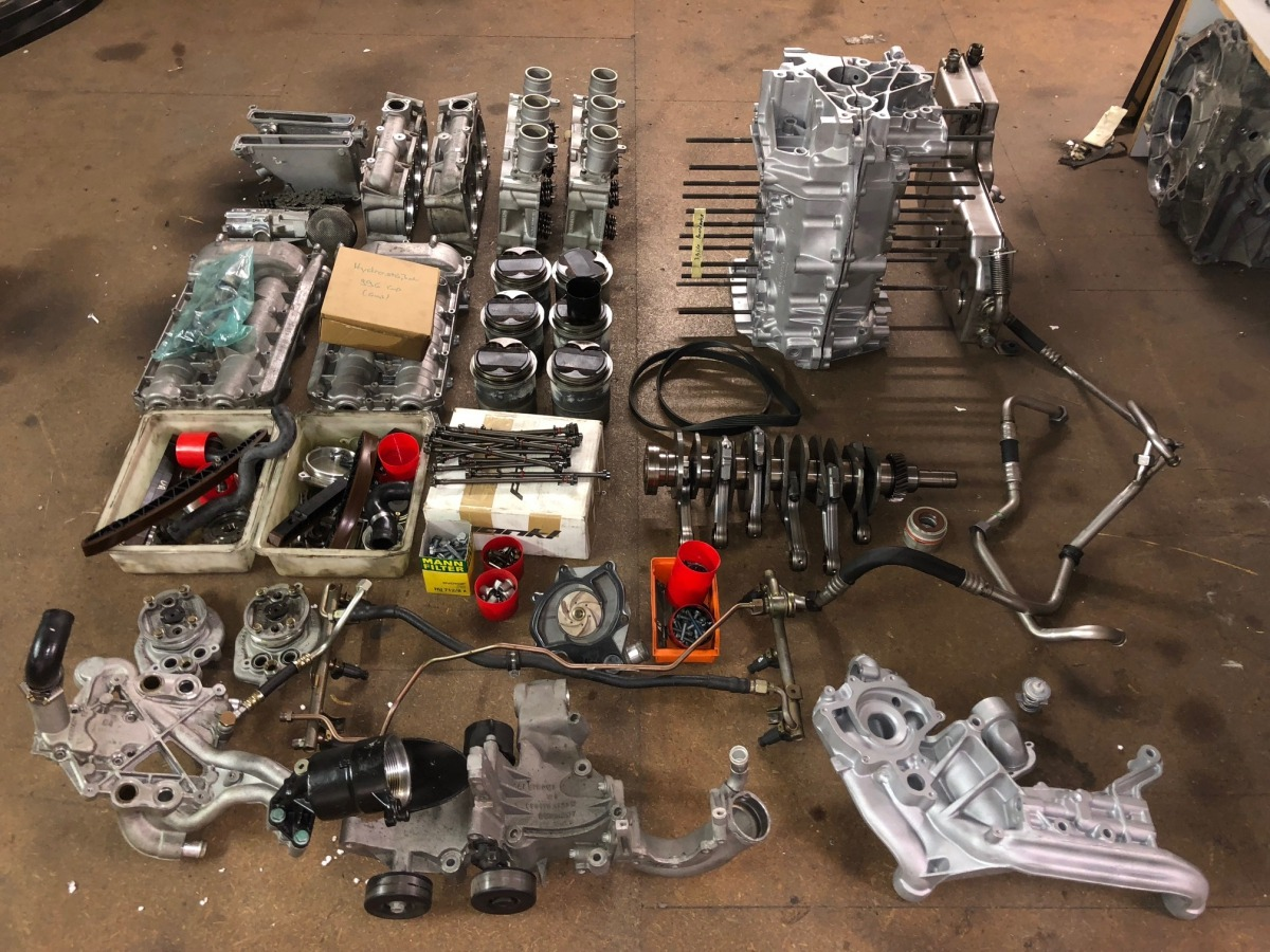 996 GT3 Cup Motor Laufleistung 40 Stunden Neuaufbau Porsche