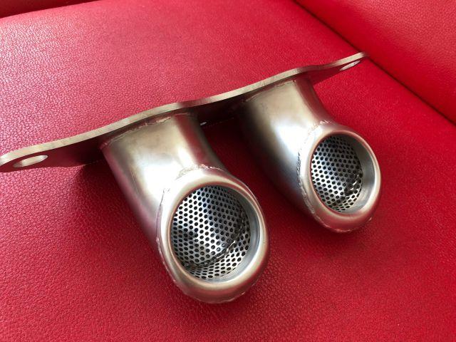 997 - 991 GT3 Cup Endrohre gebogen mit Schalldämpfer für Porsche