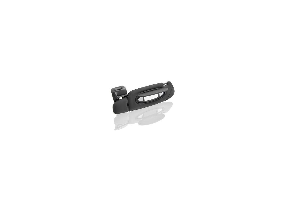 996 Cabrio Sonnenblende Leder links in schwarz