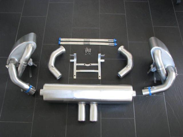 991 GT3 Cup Rennauspuff zur Adaption an Porsche Serienkrümmer