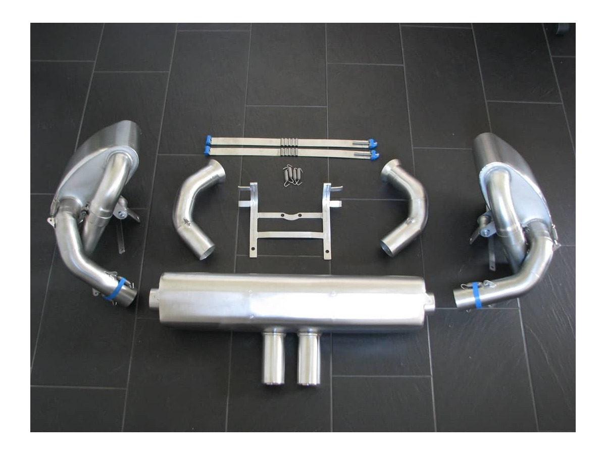 991 GT3 Cup racing exhaust for adaptation to Porsche production manifold