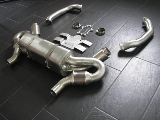 982 - 718 GT4 Clubsport race exhaust system Porsche Cayman