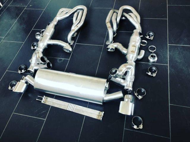 964 Klappenanlage poliert 2 Endrohre Porsche
