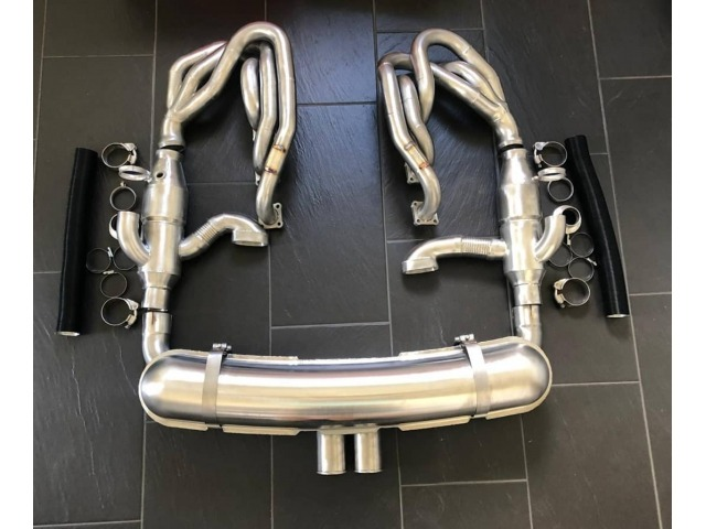 964 Sport exhaust system 2 central tailpipes Porsche
