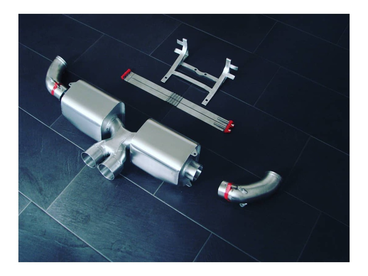 991 GT3 Cup rallye exhaust for adaptation to Porsche production manifold