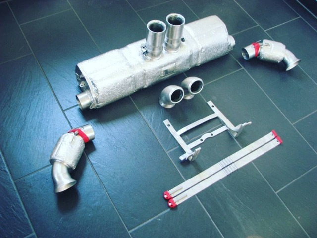 991 GT3 Cup racing exhaust with changeable Pipes Porsche