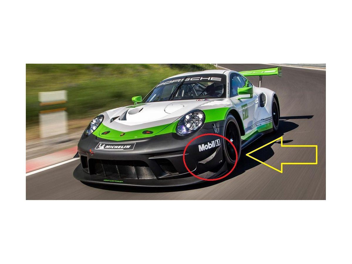 991 GT3 R - RSR Splitter für Bugschürze Porsche