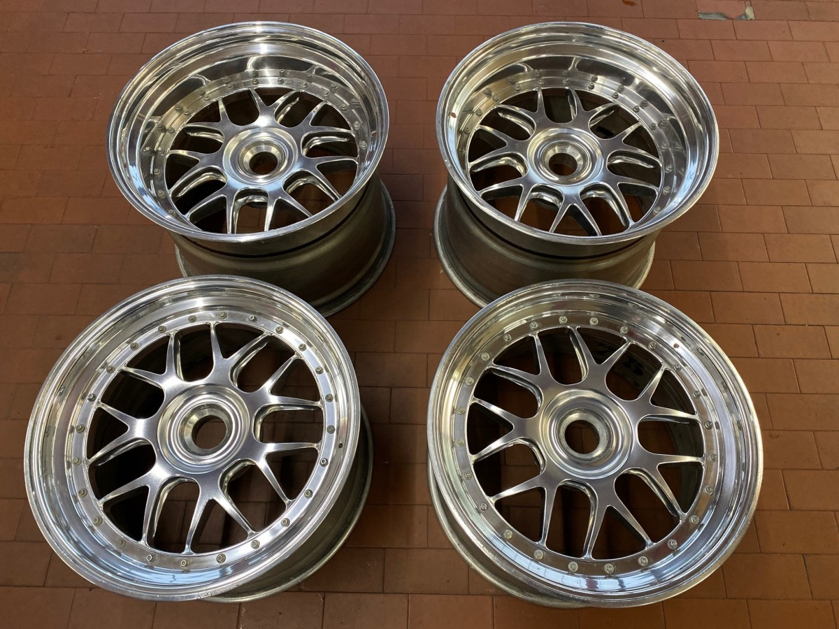 997 GT3 R wheelset BBS rims forged wheels Porsche