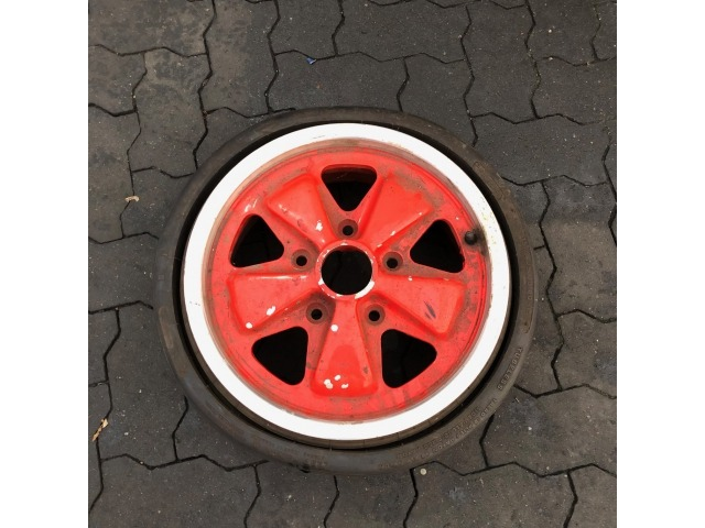 911 spare tire folding rim Fuchs red Porsche