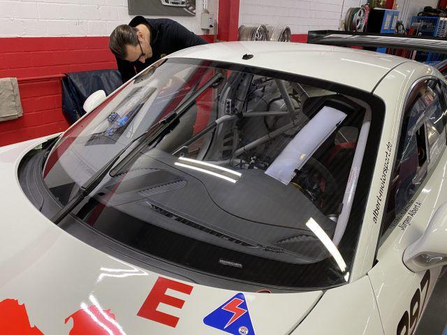 991 GT3 Cup Polycarbonat Frontscheibe gehärtet für Porsche Rennwagen