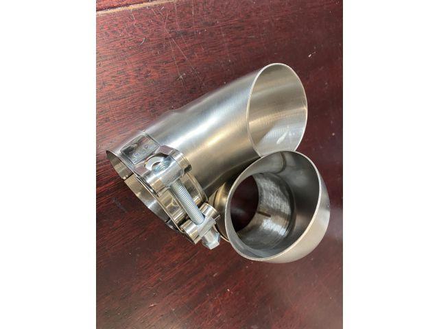 Cayman GT4 um 90° gebogenes Abgasrohr zur Soundableitung für Sport Auspuff