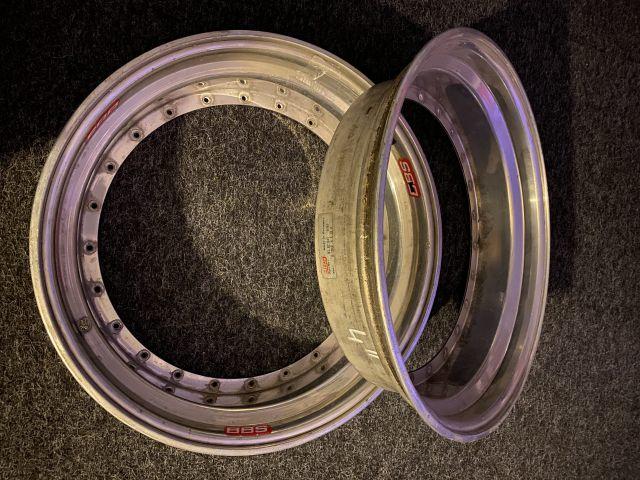 2 x BBS rim ring 4 x 18 outside rim bowl outside